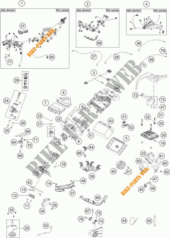 FAISCEAU ELECTRIQUE pour KTM 1290 SUPER ADVENTURE WHITE