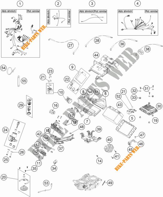 FAISCEAU ELECTRIQUE pour KTM 1190 ADVENTURE ABS GREY de
