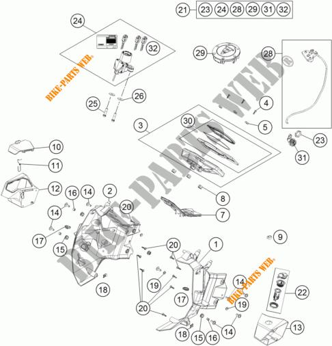 CONTACTEUR A CLE pour KTM 1190 ADVENTURE ABS GREY WES. de