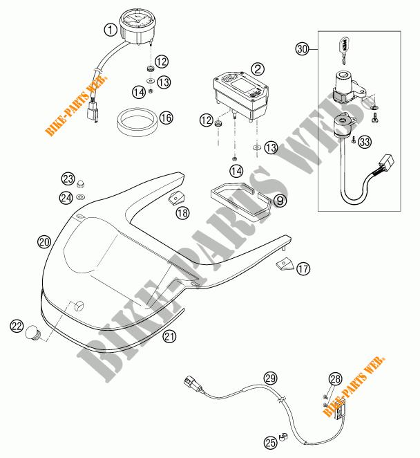 CONTACTEUR A CLE pour KTM 640 LC4 ADVENTURE de 2003 # KTM