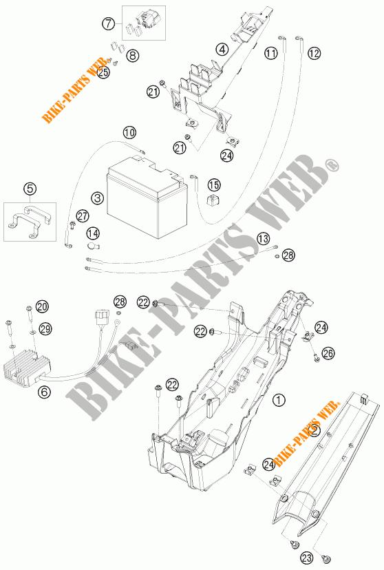 BATTERIE pour KTM 1190 RC8 ORANGE de 2010 # KTM