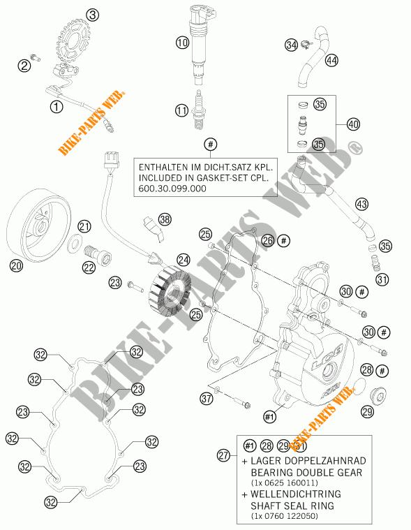 ALLUMAGE pour KTM 990 SUPERMOTO R de 2012 # KTM