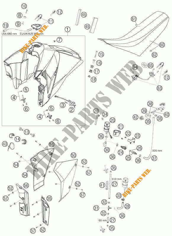 RESERVOIR / SELLE pour KTM SUPERMOTO 950 2006 # KTM