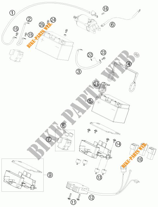 BATTERIE pour KTM 690 SUPERMOTO R de 2008 # KTM