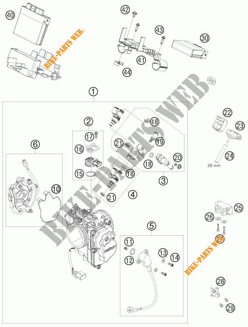 BOITIER PAPILLON INJECTION pour KTM 690 SUPERMOTO R de