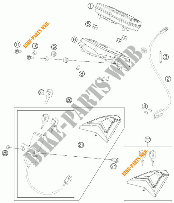 CONTACTEUR A CLE pour KTM 690 SMC R de 2013 # KTM