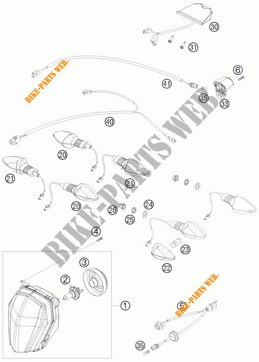 PHARE / FEU ARRIERE pour KTM 690 SMC de 2011 # KTM