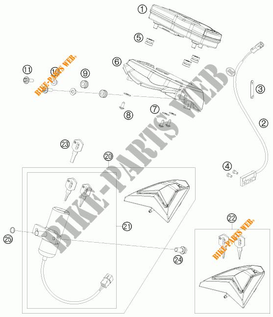 CONTACTEUR A CLE pour KTM 690 SMC de 2009 # KTM