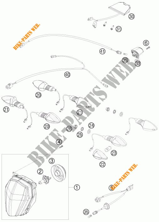 PHARE / FEU ARRIERE pour KTM 690 SMC de 2009 # KTM