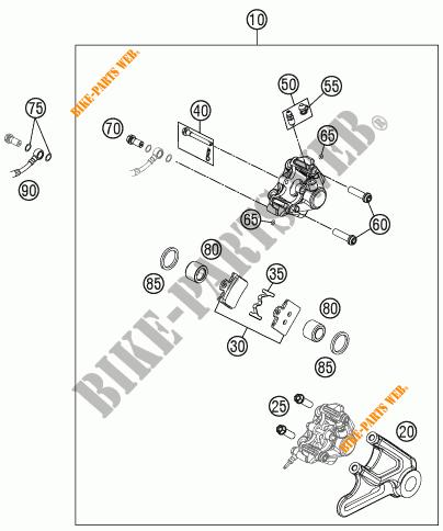 ETRIER DE FREIN AR pour KTM FREERIDE 350 de 2012 # KTM
