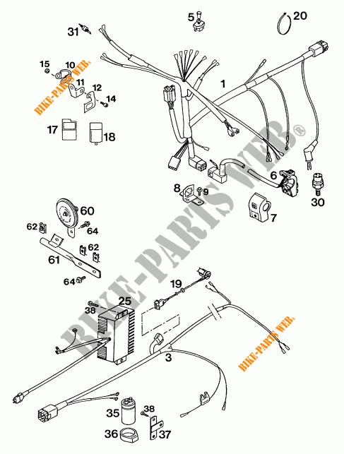 FAISCEAU ELECTRIQUE pour KTM 620 RXC-E de 1995 # KTM
