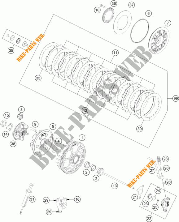 EMBRAYAGE pour KTM 450 SX-F FACTORY EDITION de 2015 # KTM