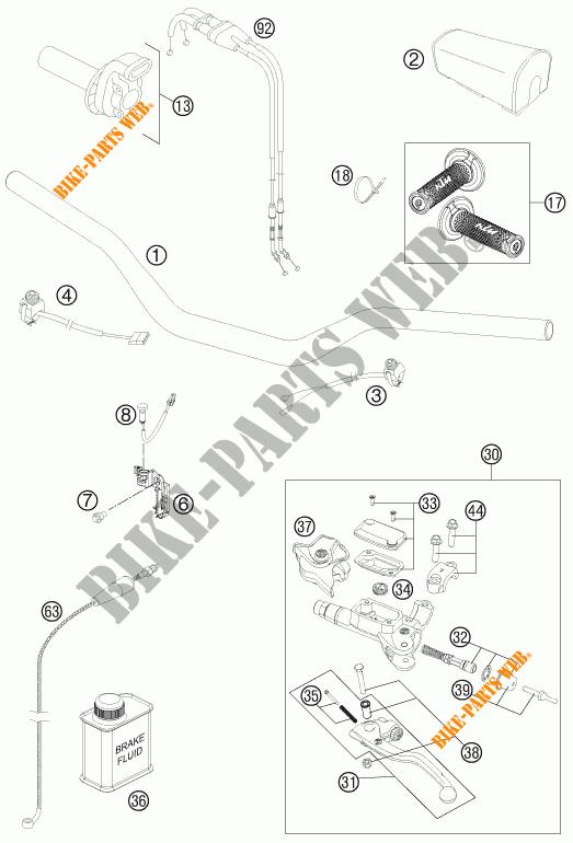 GUIDON / COMMANDES pour KTM 450 SX-F de 2014 # KTM