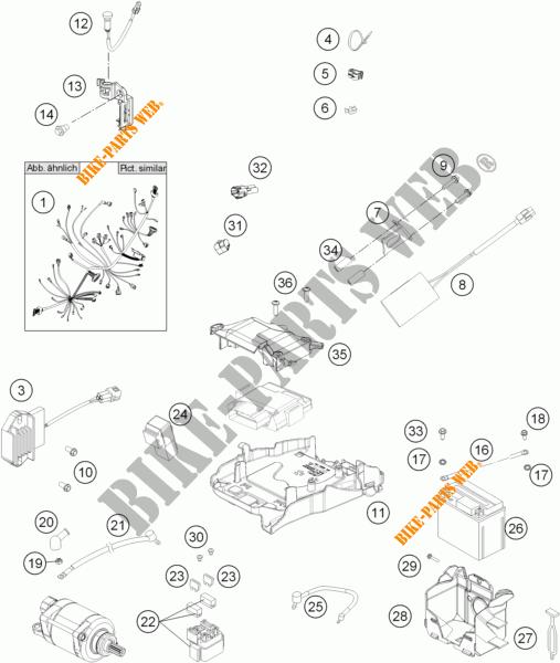 FAISCEAU ELECTRIQUE pour KTM 350 SX-F de 2015 # KTM