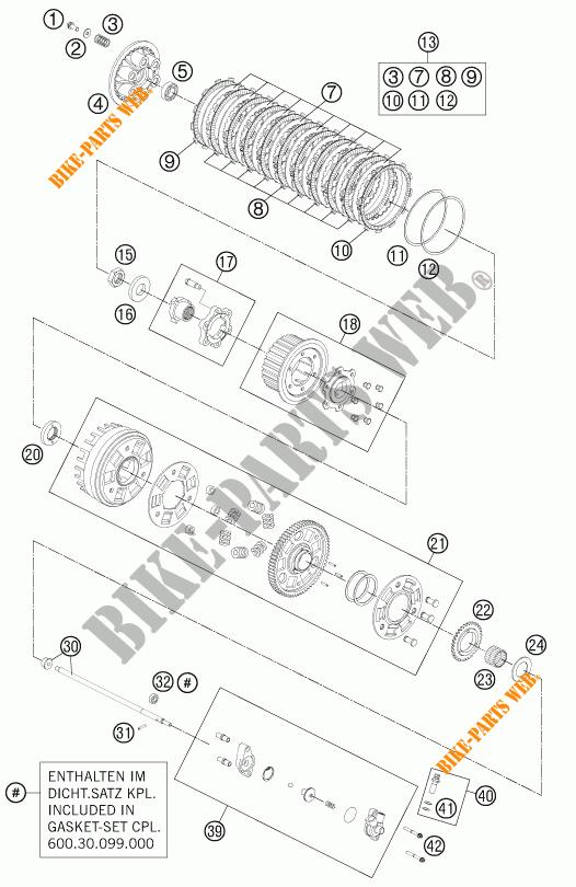 EMBRAYAGE pour KTM 990 SUPER DUKE R de 2013 # KTM