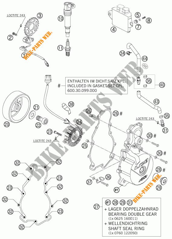 ALLUMAGE pour KTM 990 SUPER DUKE R de 2007 # KTM