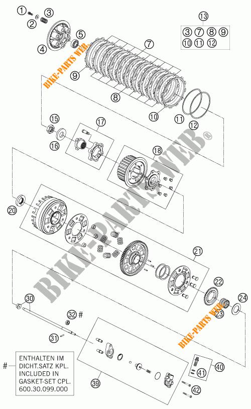 EMBRAYAGE pour KTM 990 SUPER DUKE ORANGE de 2007 # KTM
