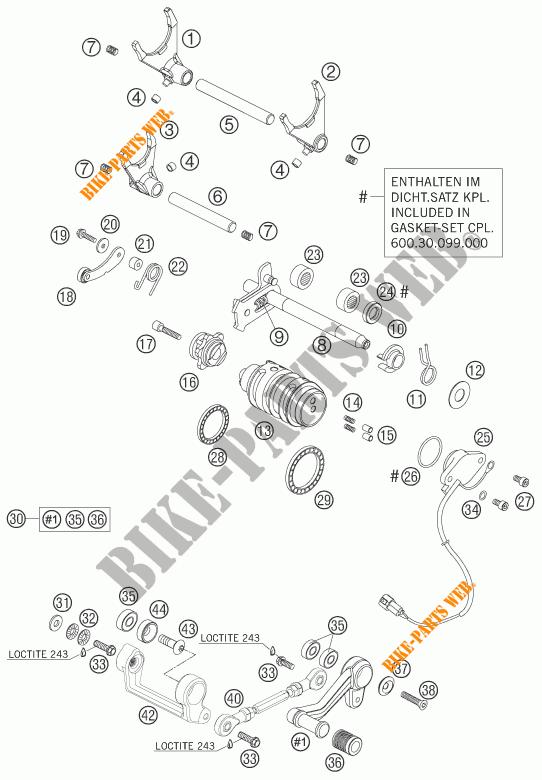 MECANISME DE SELECTION DE VITESSES pour KTM 990 SUPER DUKE