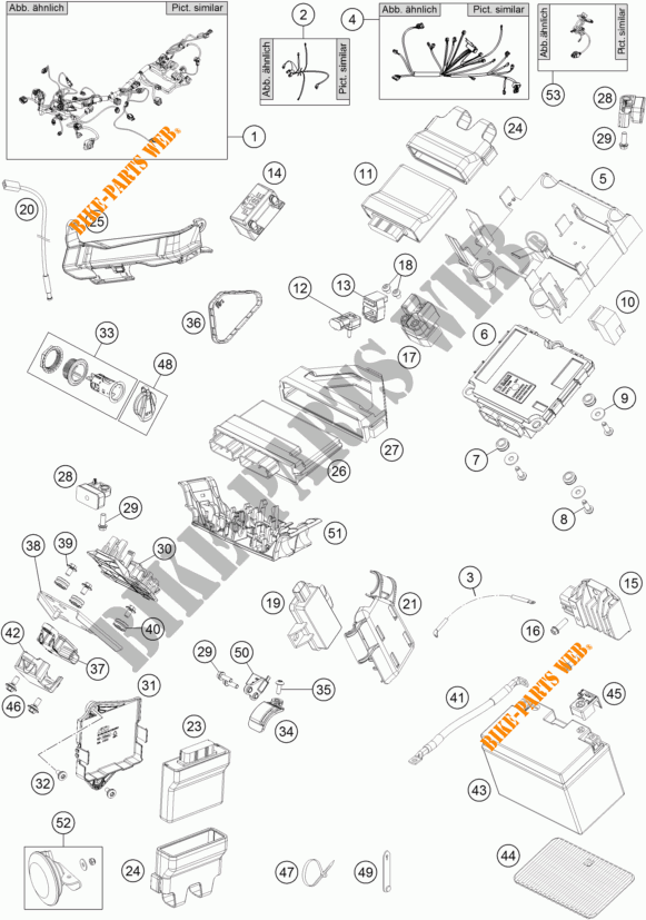 FAISCEAU ELECTRIQUE pour KTM 1290 SUPER DUKE GT BLACK de