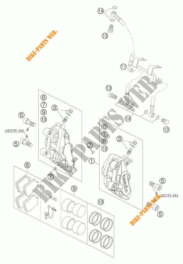 ETRIER DE FREIN AVANT pour KTM 990 SUPER DUKE BLACK de