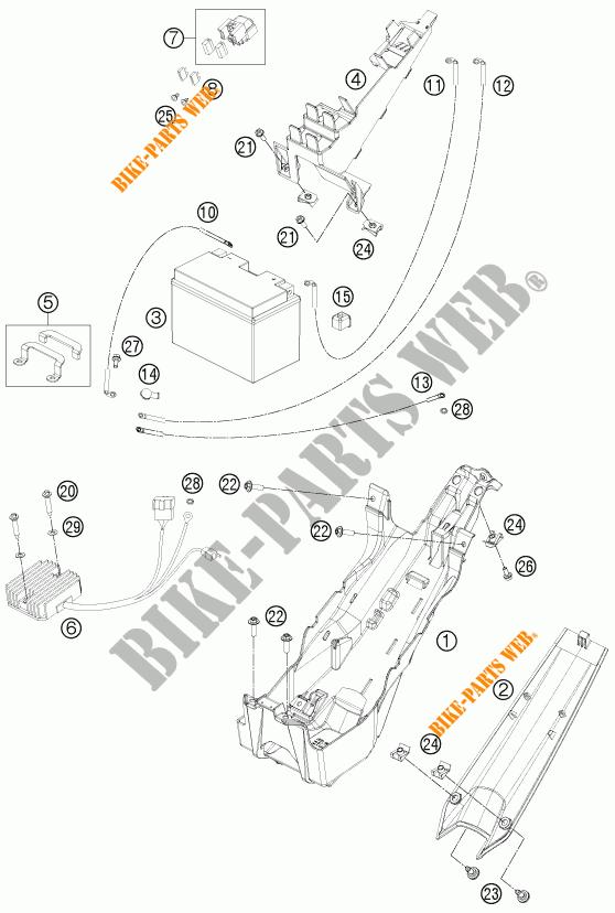 BATTERIE pour KTM 1190 RC8 R WHITE de 2014 # KTM