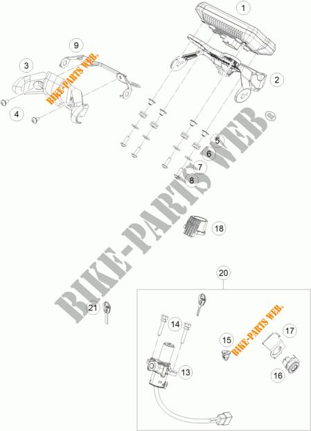 CONTACTEUR A CLE pour KTM 125 DUKE WHITE de 2017 # KTM