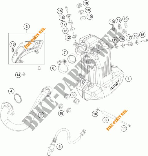ECHAPPEMENT pour KTM 125 DUKE ORANGE de 2012 # KTM