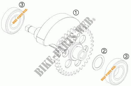 ARBRE D'EQUILIBRAGE pour KTM 690 ENDURO R de 2012 # KTM