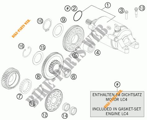 DEMARREUR ELECTRIQUE pour KTM 690 ENDURO R de 2012 # KTM