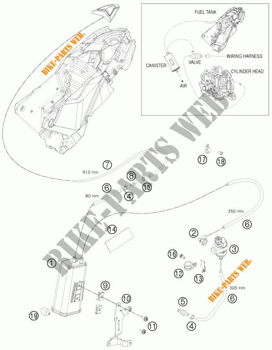 EVAPORATIVE CANISTER pour KTM 690 ENDURO R de 2012 # KTM