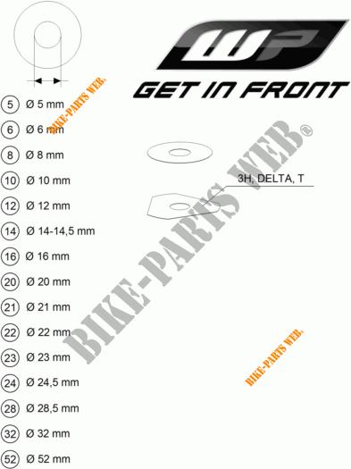 WP SHIMS FOR SETTING pour KTM 690 ENDURO R de 2012 # KTM