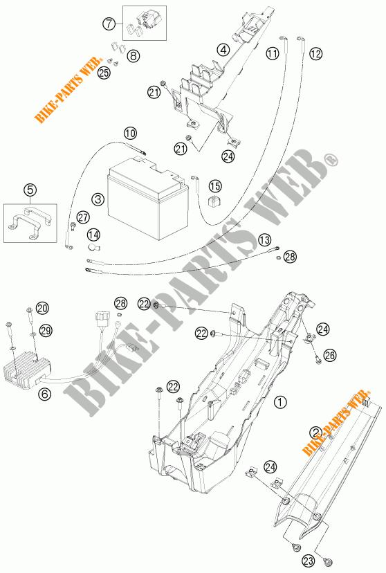 BATTERIE pour KTM 1190 RC8 R WHITE de 2011 # KTM