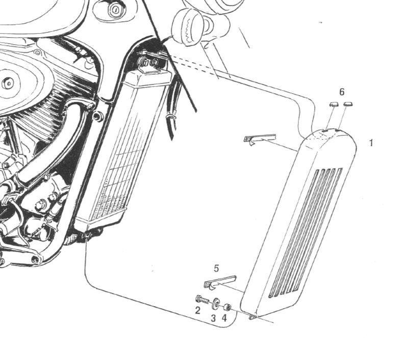 Highway Hawk cache radiateur pour M800 après 2010