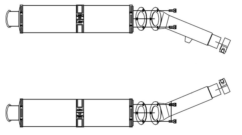 BSM 2 silencieux Future Large ovale carbone pour FJR 1300