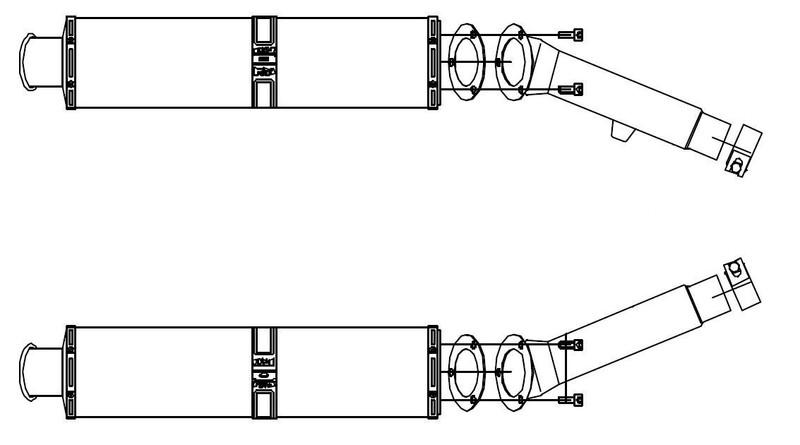 BSM 2 silencieux Future Large ovale titane pour FJR 1300