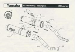 Bos 2 silencieux GT rond en inox noir pour BT1100 2001