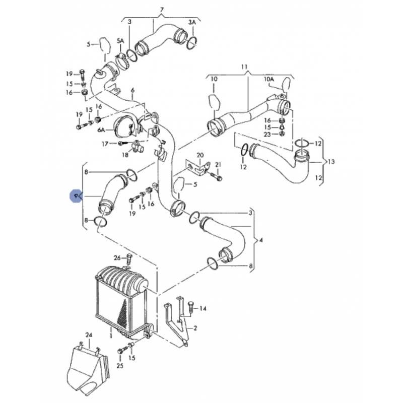 Durite / Flexible de pression ref 1J0145834Q 1J0145834AA
