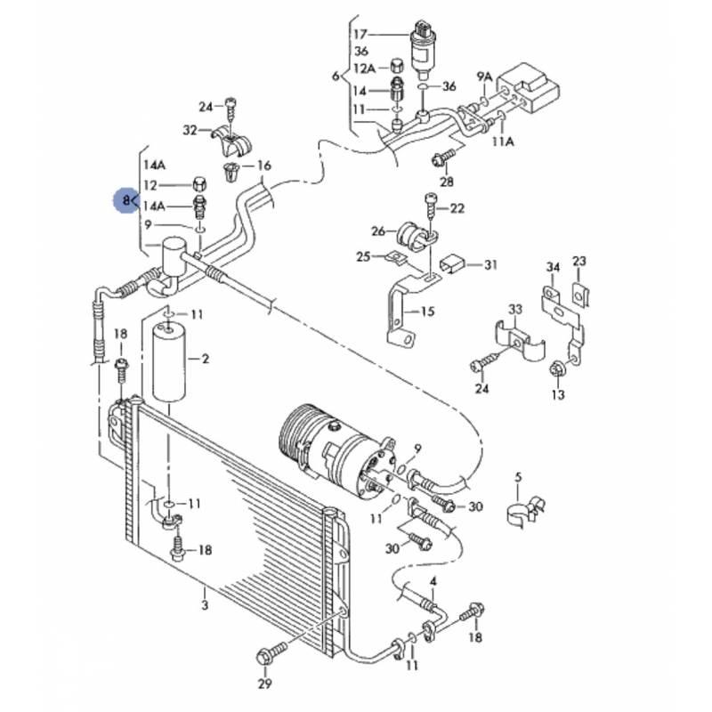 Tuyau de climatisation, flexible de réfrigérant pour 1l9