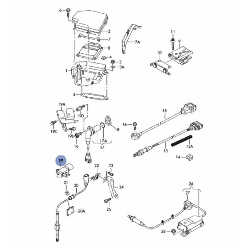 Sensor of differential pressure for audi, seat, vw, skoda