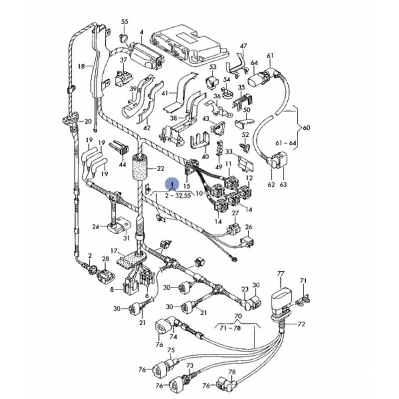 Faisceau, câblage pour compartiment moteur pour audi a3