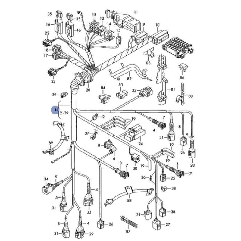 Faisceau, câblage de moteur pour audi a4 b6 2l5 v6 tdi ref