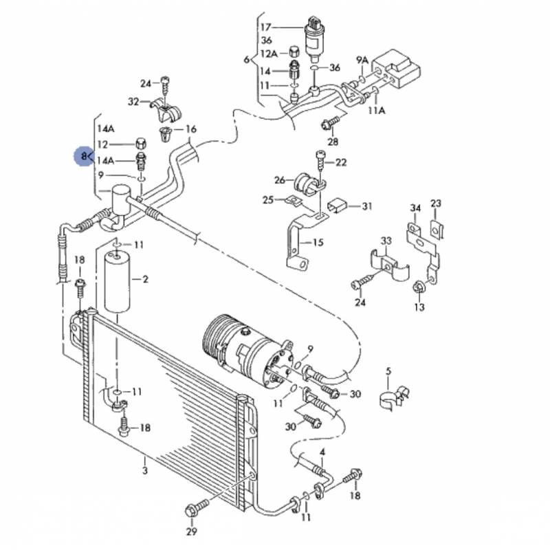 Tuyau de climatisation, flexible de réfrigérant ref