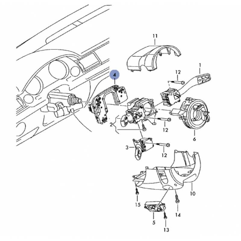 Module électronique pour commodo combiné pour Audi A4 B6