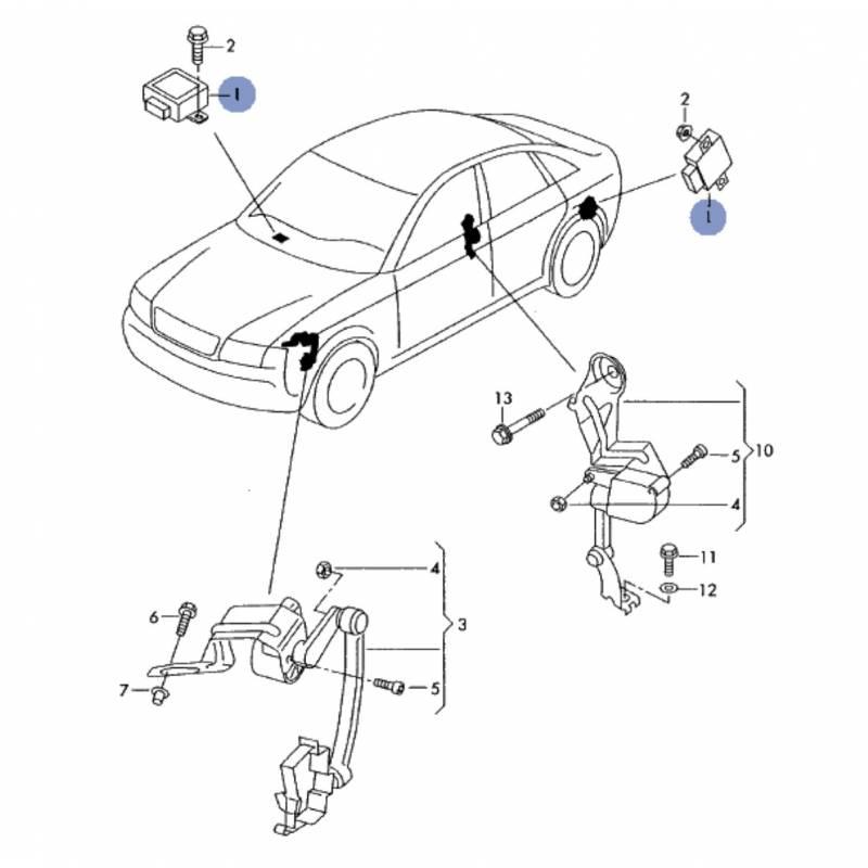 Calculateur de réglage auto portée de projecteur pour Audi