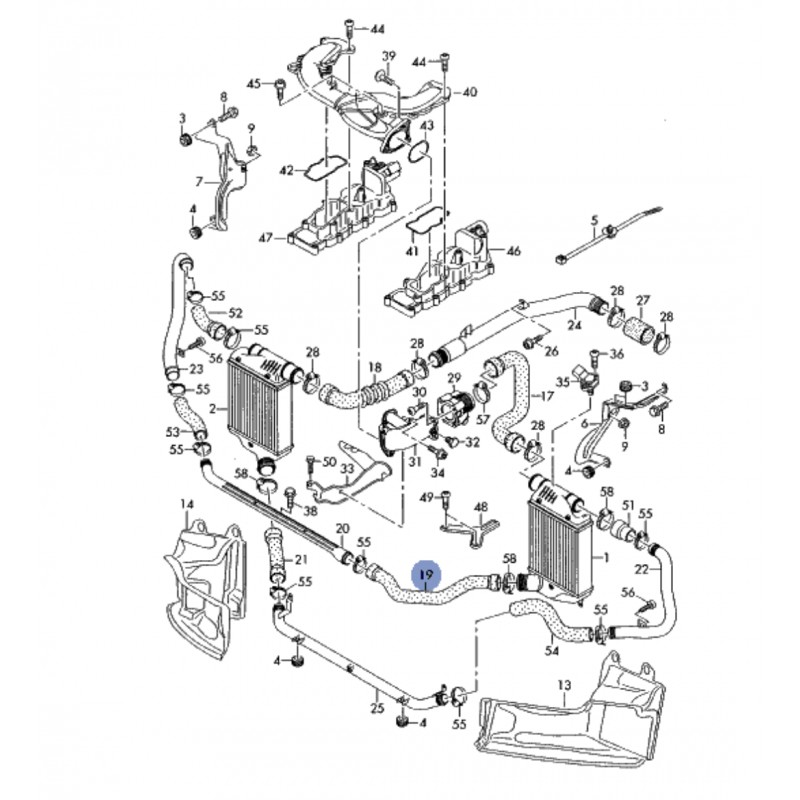 Durite / Flexible de liaison pour Audi A6 4F V6 TDI ref
