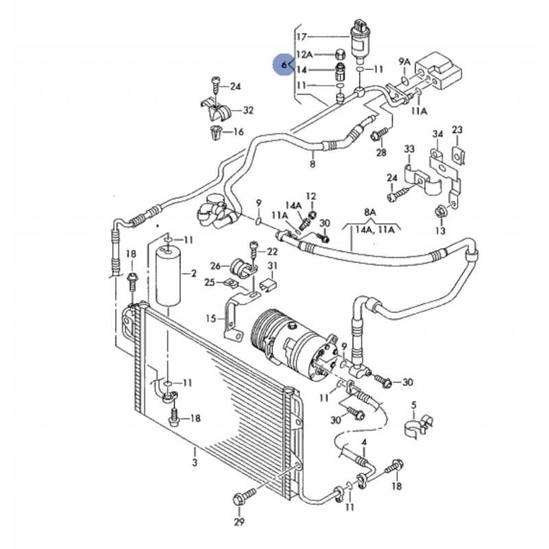 Manguera de aire acondicionado, flexible de refrigerant