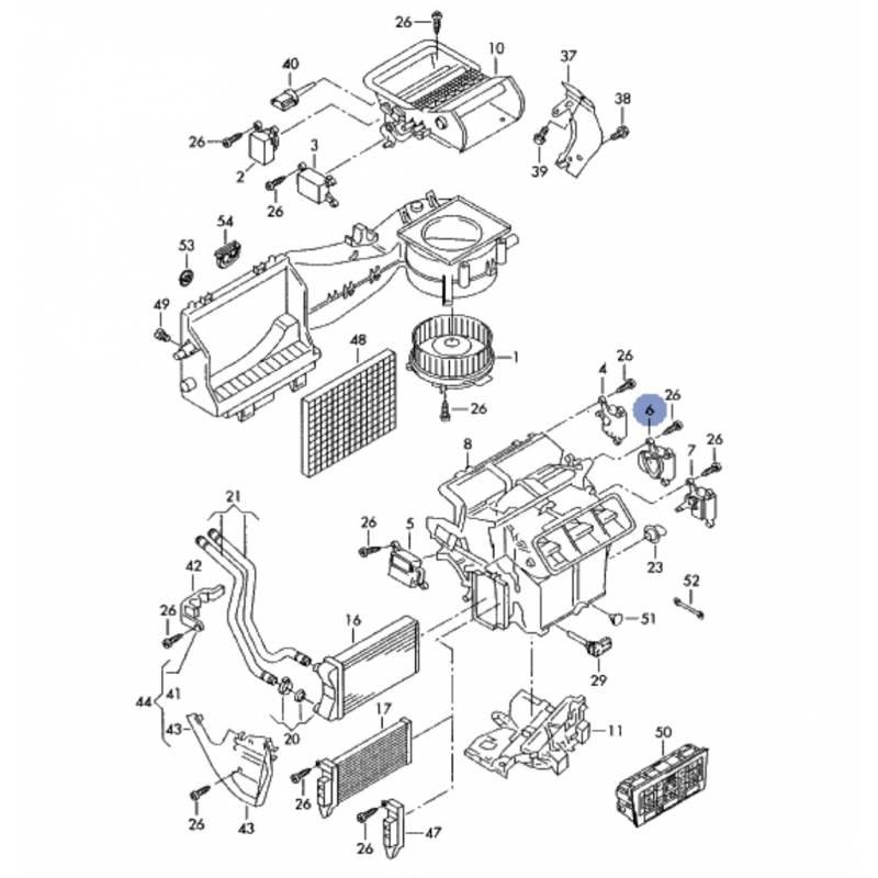 Servomotor of temperatura control flap audi a4, seat exeo