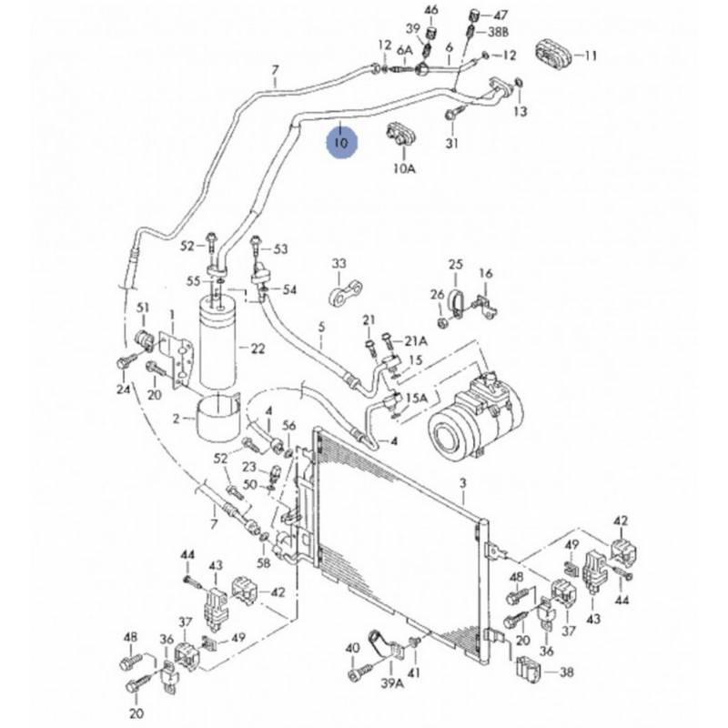 Manguera de aire acondicionado / Flexible de refrigerant