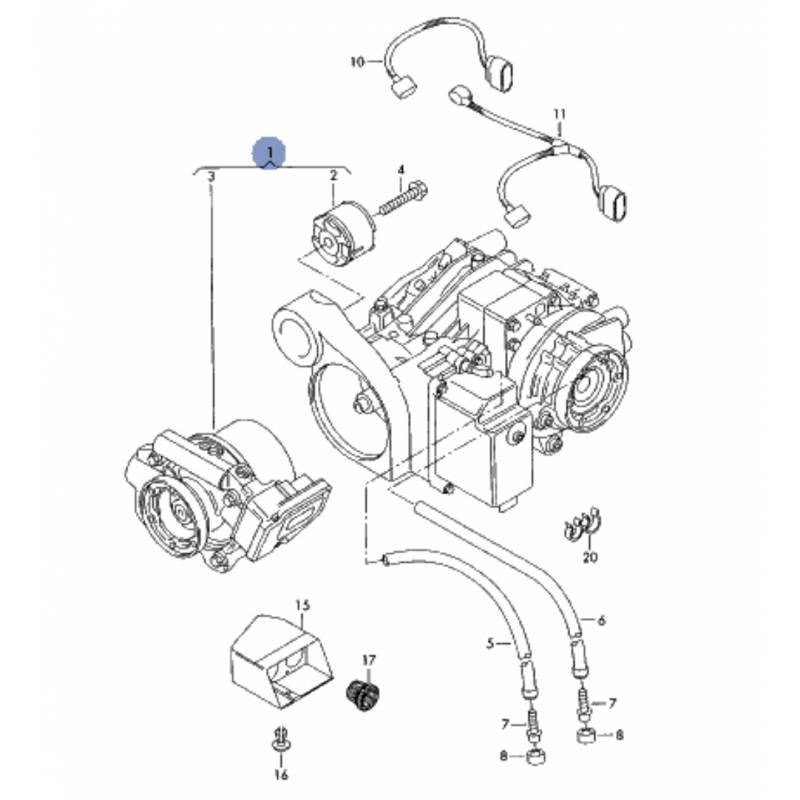 Differential group, transmission haldex vw t5 kjw