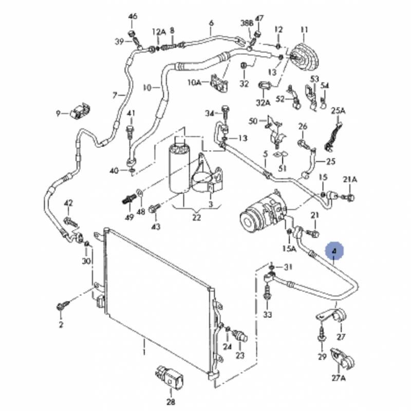 Tuyau de climatisation, flexible de réfrigérant audi a4 b6